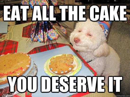 Eat All The Cake You Deserve It Meme Photo