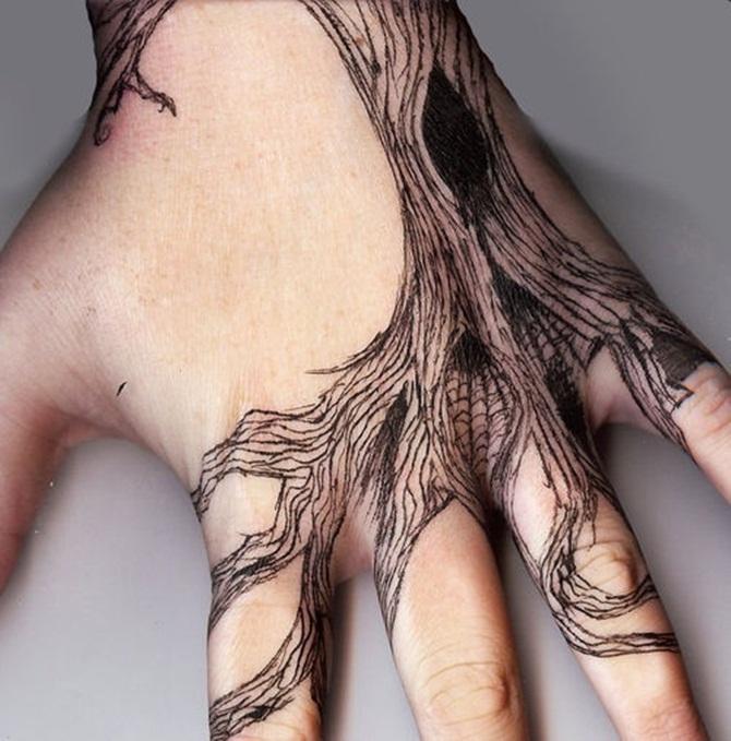 Elegant Hand Tattoo Design For Girls
