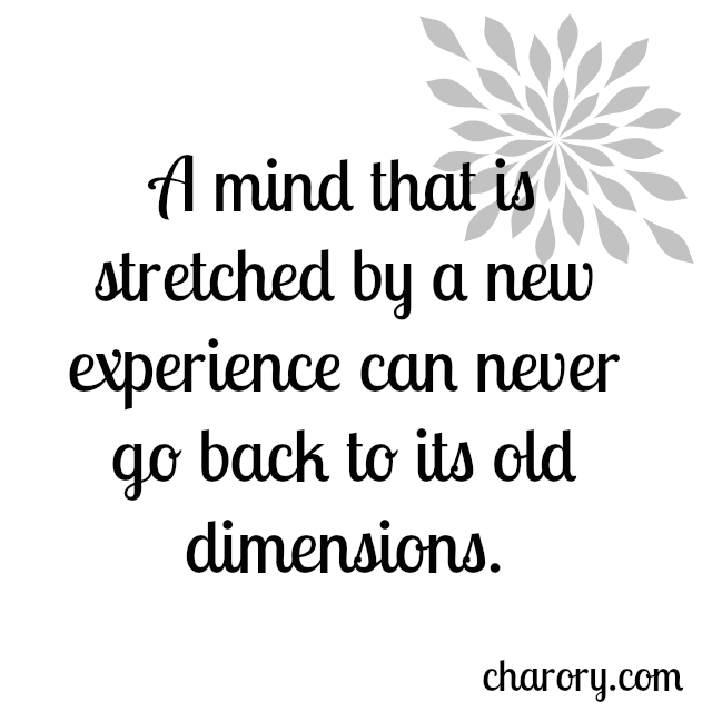 Quotes About Experience: Experience Quotes A Mind That Is Stretched By A New
