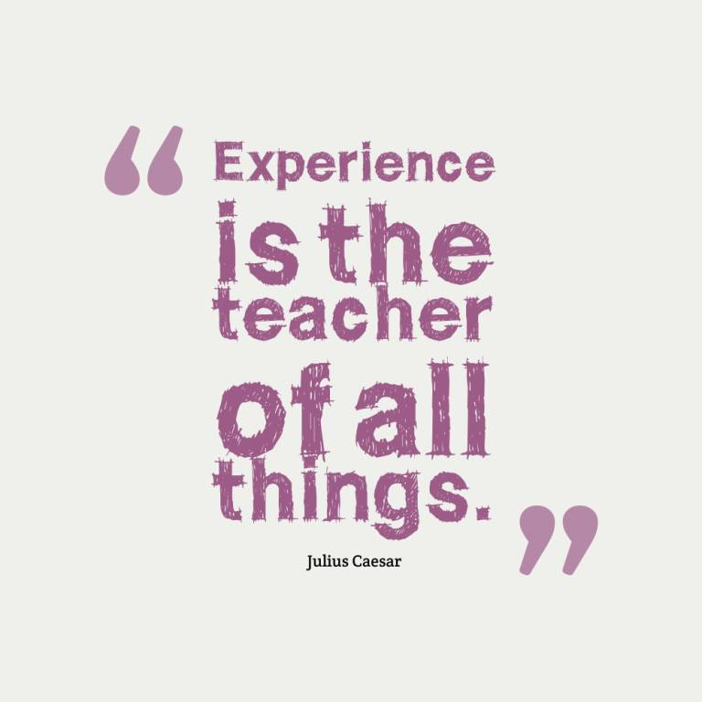Experience Quotes experience is the teacher of all things