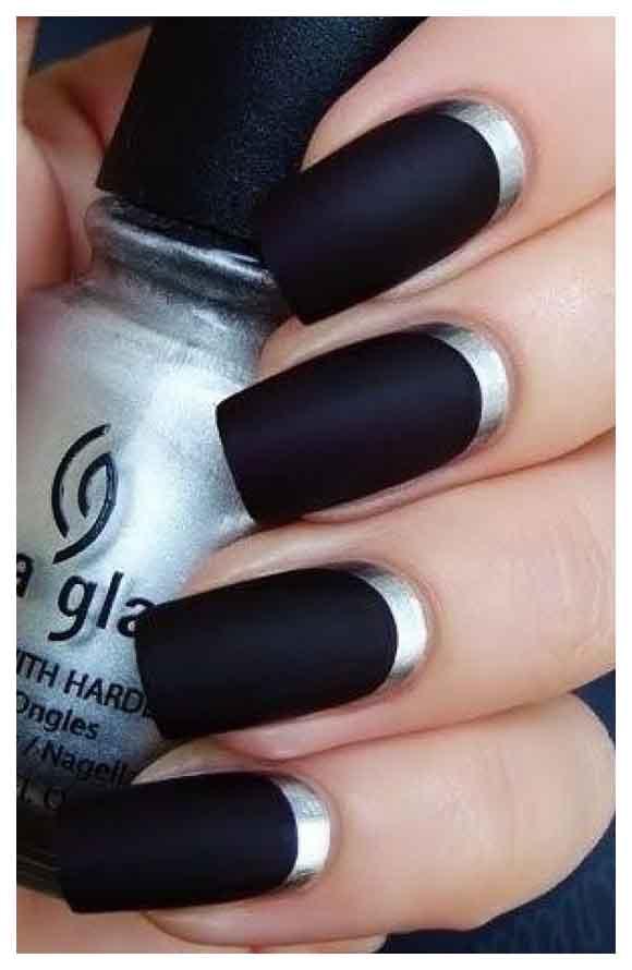 Black Nail Polish With Matte