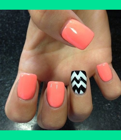 Fabulous Pink And Stripes Accent Nail Design