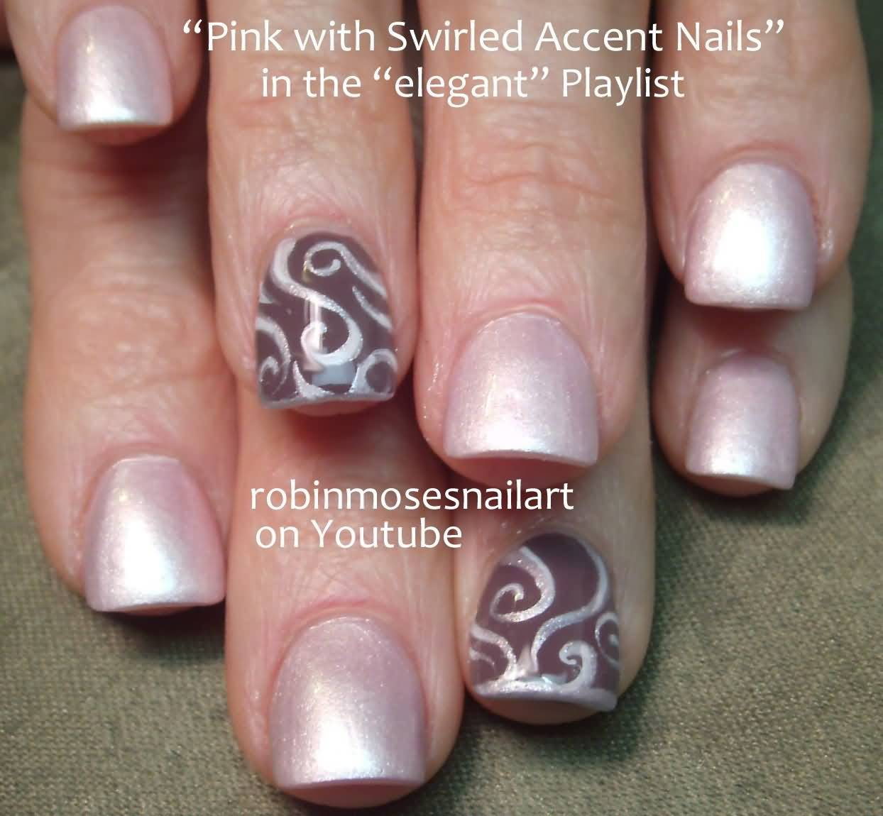 Fabulous Pink Color Nail Paint Accent Nail Art