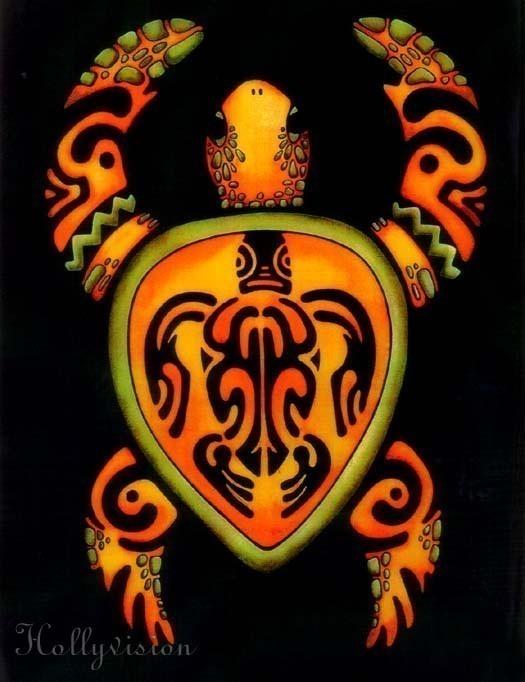 Famous Hawaiian Turtle Tattoo Poster For Boys