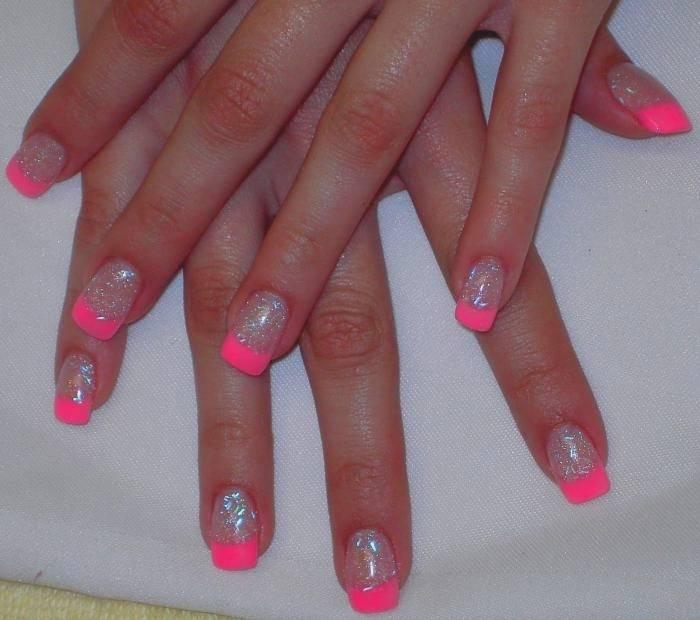 Fantastic pink sparkling nail pink acrylic nail art design picsmine 700 620 in 63 incredible pink acrylic nail designs prinsesfo Image collections