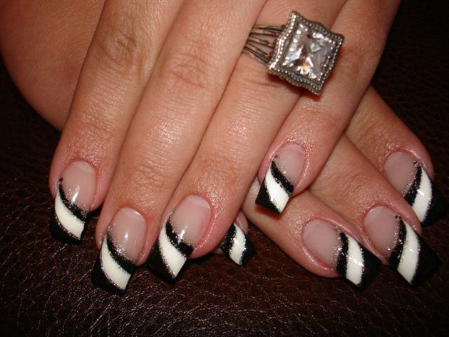 Fantastic white and black nail art on tips only picsmine fantastic white and black nail art on tips only prinsesfo Image collections