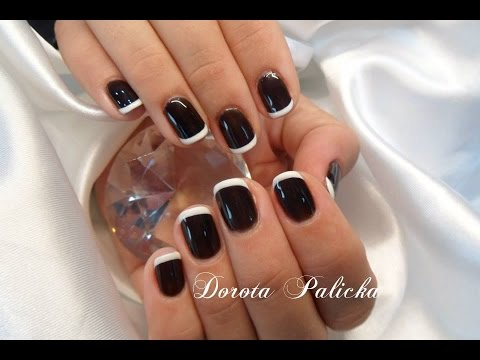 Fantastic White And Black Nail Art With Tips