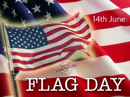 Flag Day 14th June Wishes Image