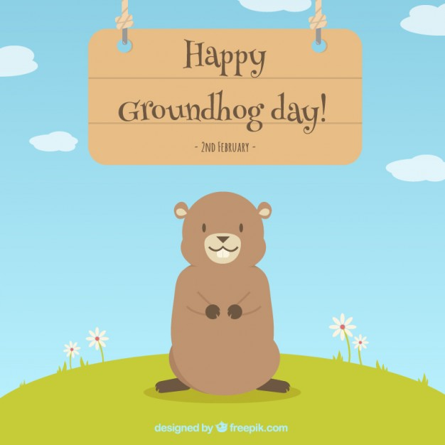 For Friends Happy Groundhog Day Wishes Image