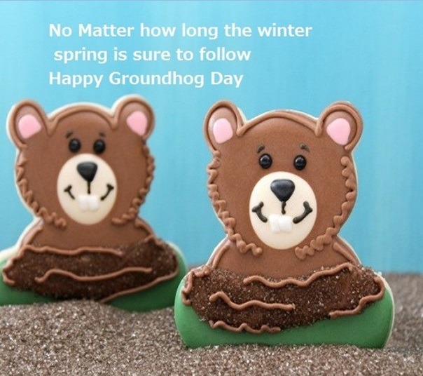 For My Dear Friends Happy Groundhog Day Wishes Image