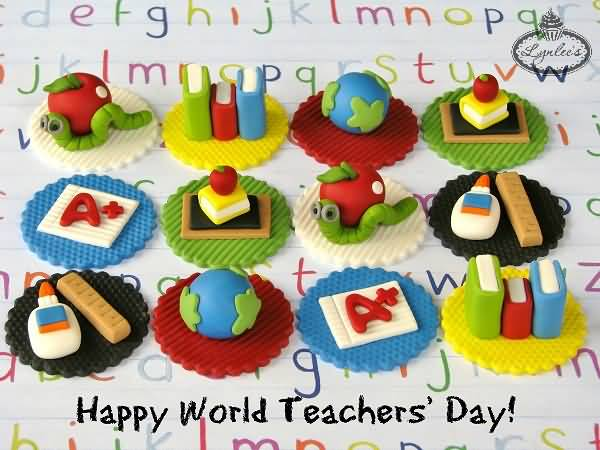 Form Kids Happy World Teacher's Day Wishes Image