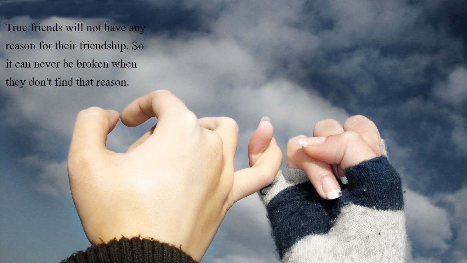 Friendship Greetings Message Wallpaper