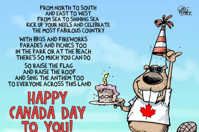 From North To South And East To West Happy Canada Day Image