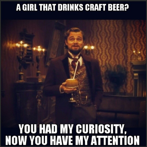 Funny Beer Memes A Girl That Drinks Craft Beer You Had My Curiosity