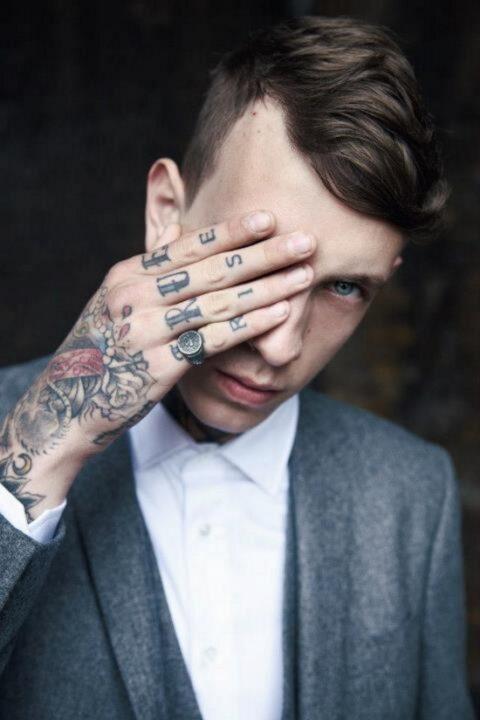Glowing Lawson Rhys Taylor Hand Tattoo Design For Boys