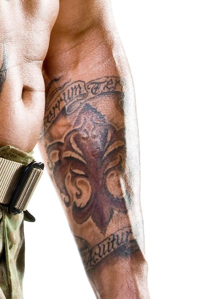 Gorgeous Fleur De Lis Arm Tattoo Design For Boys And Girls