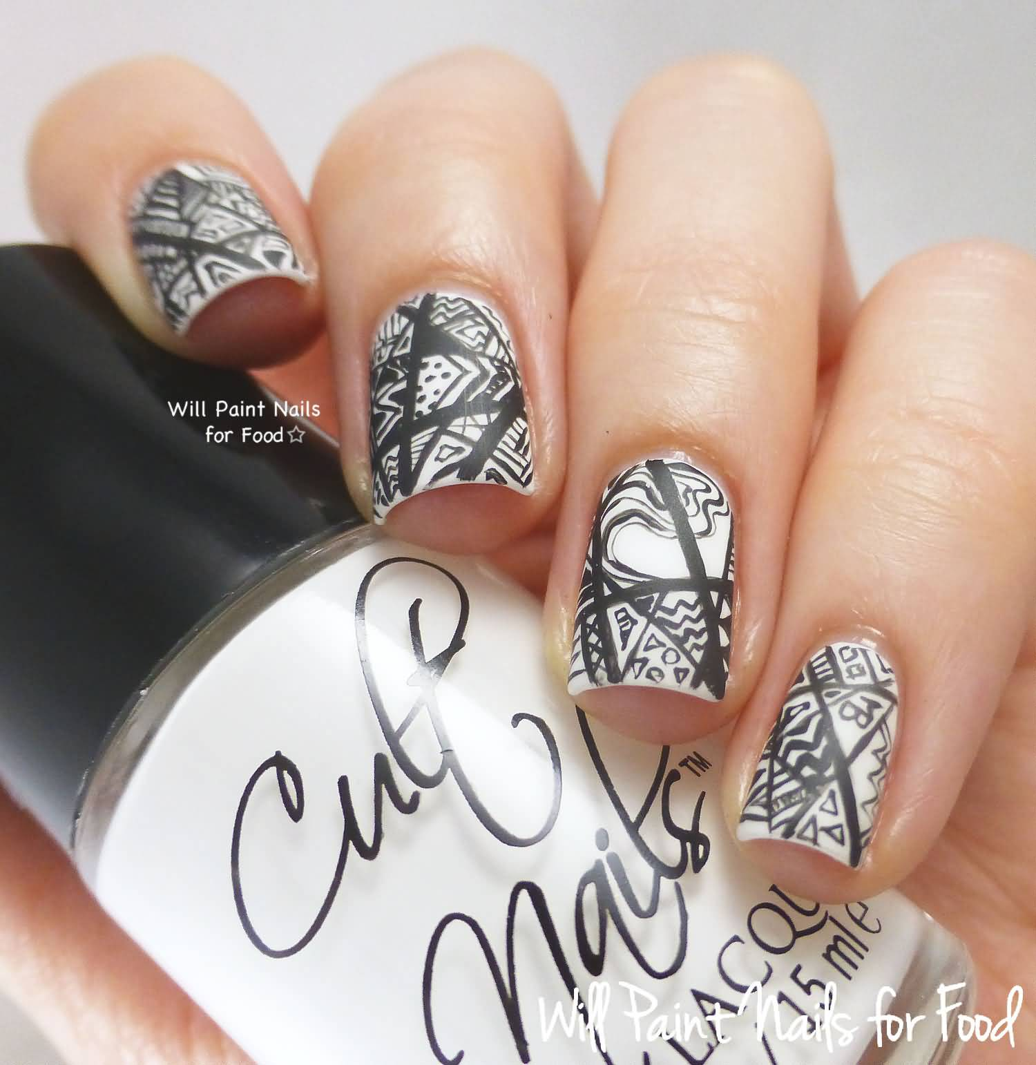 Greatest Black And White Nails With Different Design