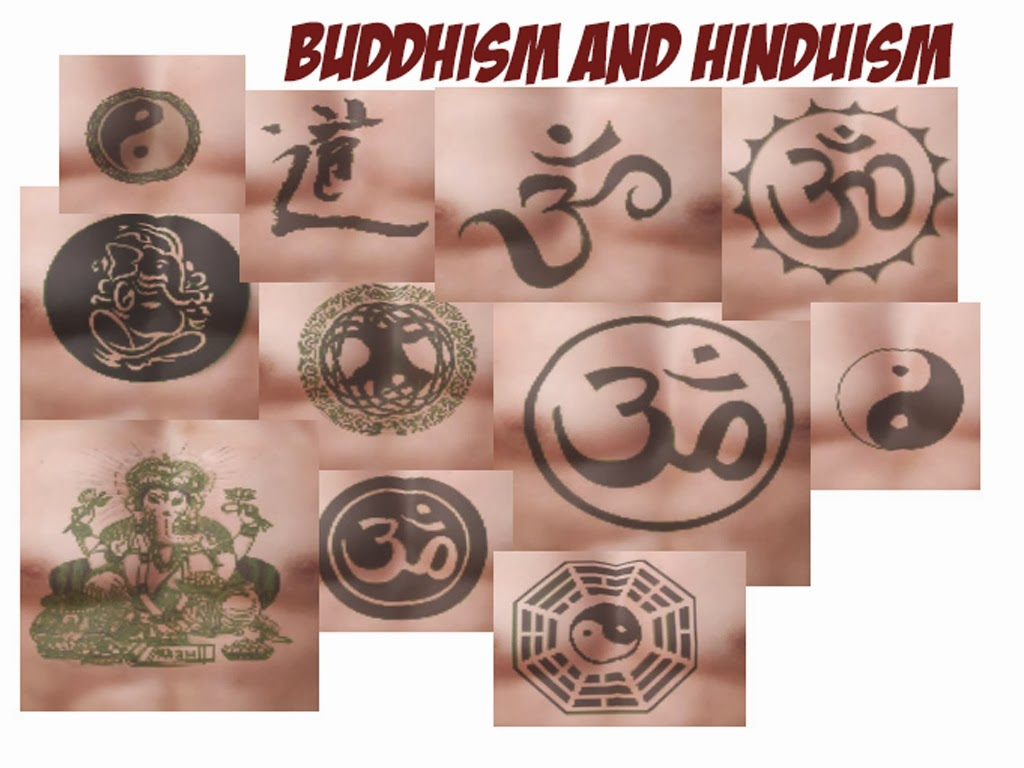 Groovy Buddhism And Hinduism Tattoo Designs For Boys