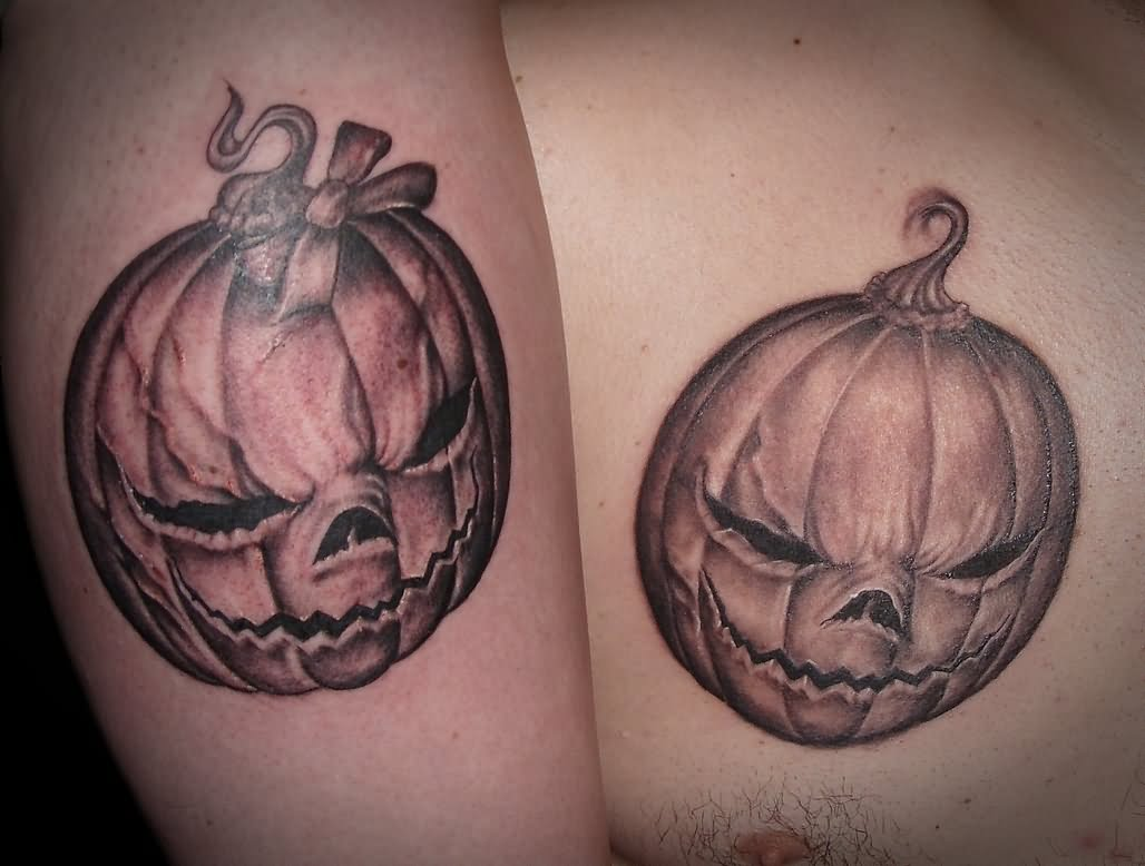 Groovy Halloween Tattoo Design For Boys