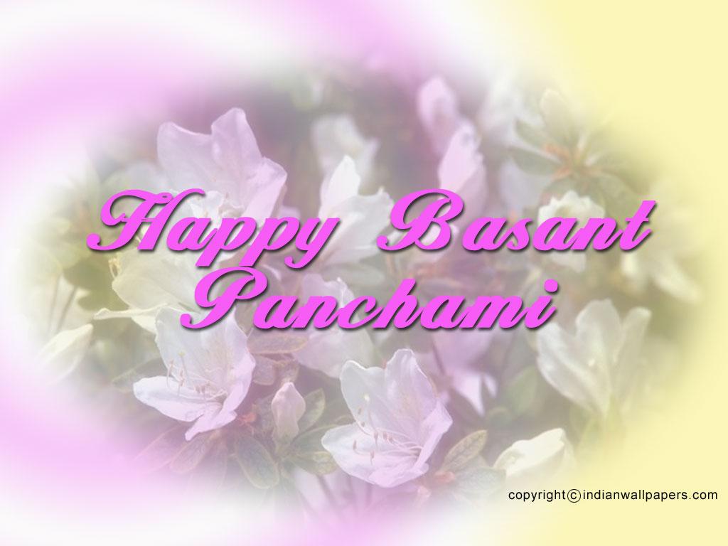 Happy Basant Panchami Wishes Message Wallpaper