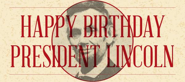 Happy Birthday President Lincoln Greetings Image