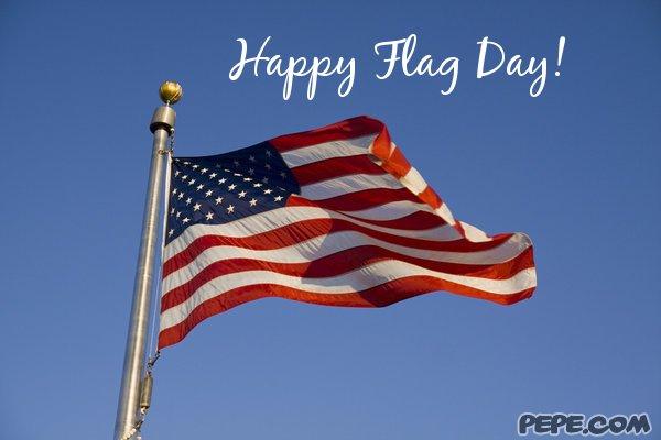Happy Flag Day United State Waving Flag Image