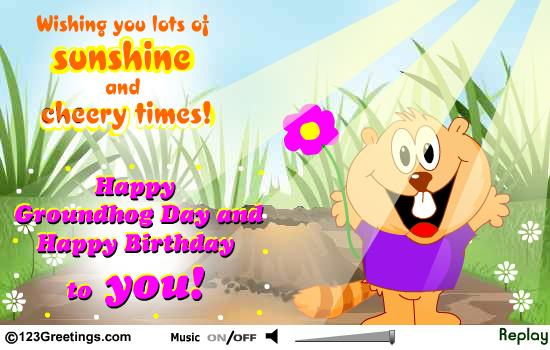 Happy Groundhog Day Greetings Message