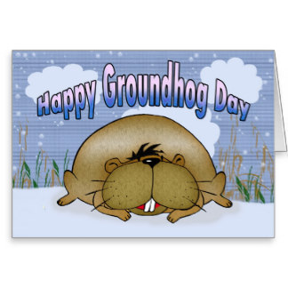 Happy Groundhog Day Wishes Greetings Card