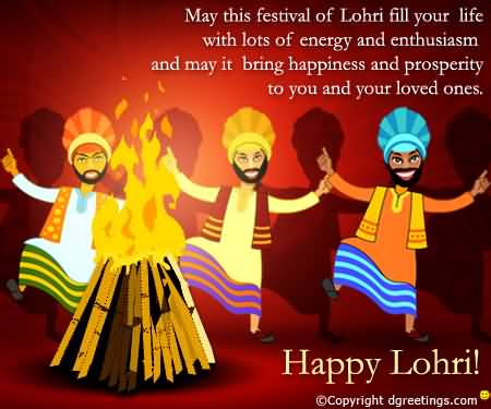 Happy Lohri Best Wishes Message Ever Image