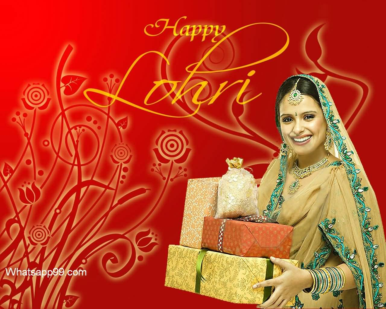 Happy Lohri Greetings You & Your Family Wishes Image