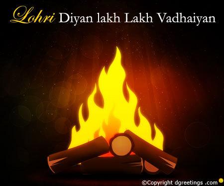 Happy Lohri Lakh Lakh Vadhaiyan Wishes Image