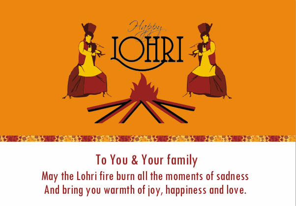 Happy Lohri You Warmth Of Joy Happiness And Love Wishes Image