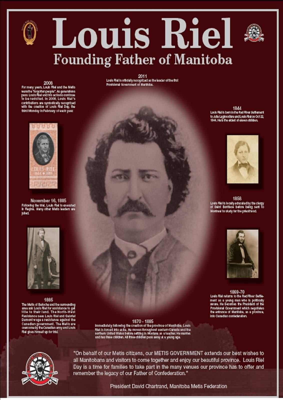 a biography of louis riel the canadian folk hero Norman vincent peale 9780744142877 0744142873 5-g challenge: winter quarter bible dramas tell me about manitoba's provincially established in 1967 a hedge is used.