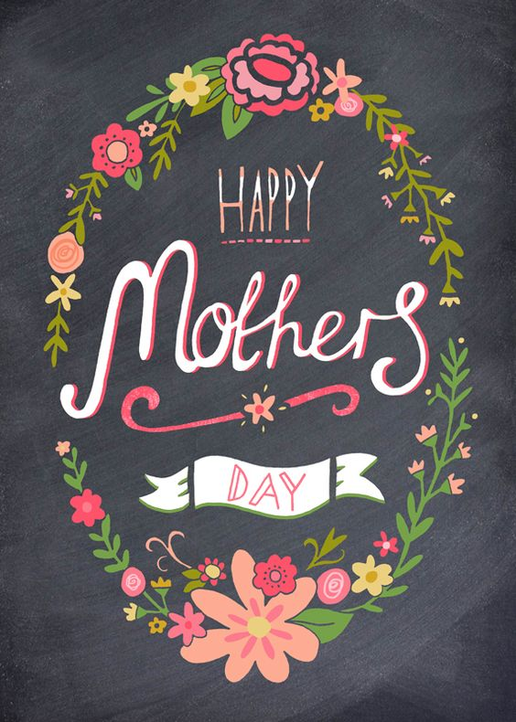 Happy Mother's Day Greetings Black Card Image