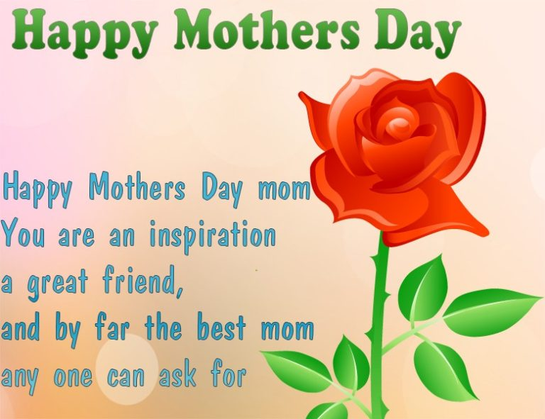 Happy Mother's Day Mom The Best Mom
