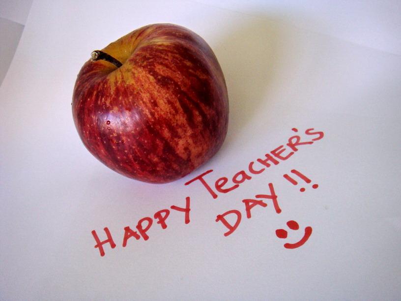 Happy Teacher's Day Wishes Apple Image
