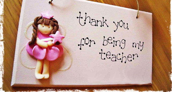 Happy World Teacher's Day Thank You Wishes Image
