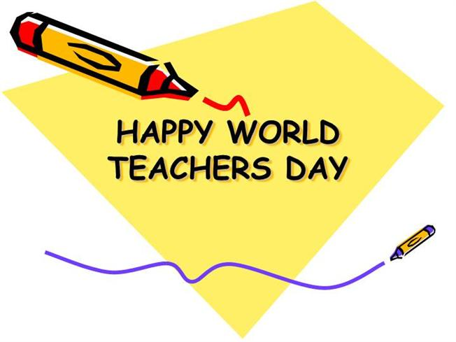 Happy World Teacher's Day Wishes Card Image