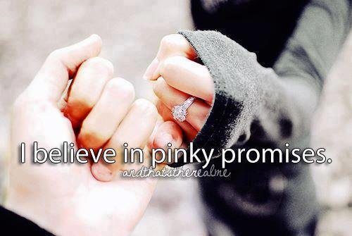 I Believe In Pinky Promise Happy Promise Day Image
