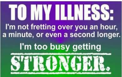 Illness Quotes To my illness i'm not fretting over you an hour a minute or even a second longer