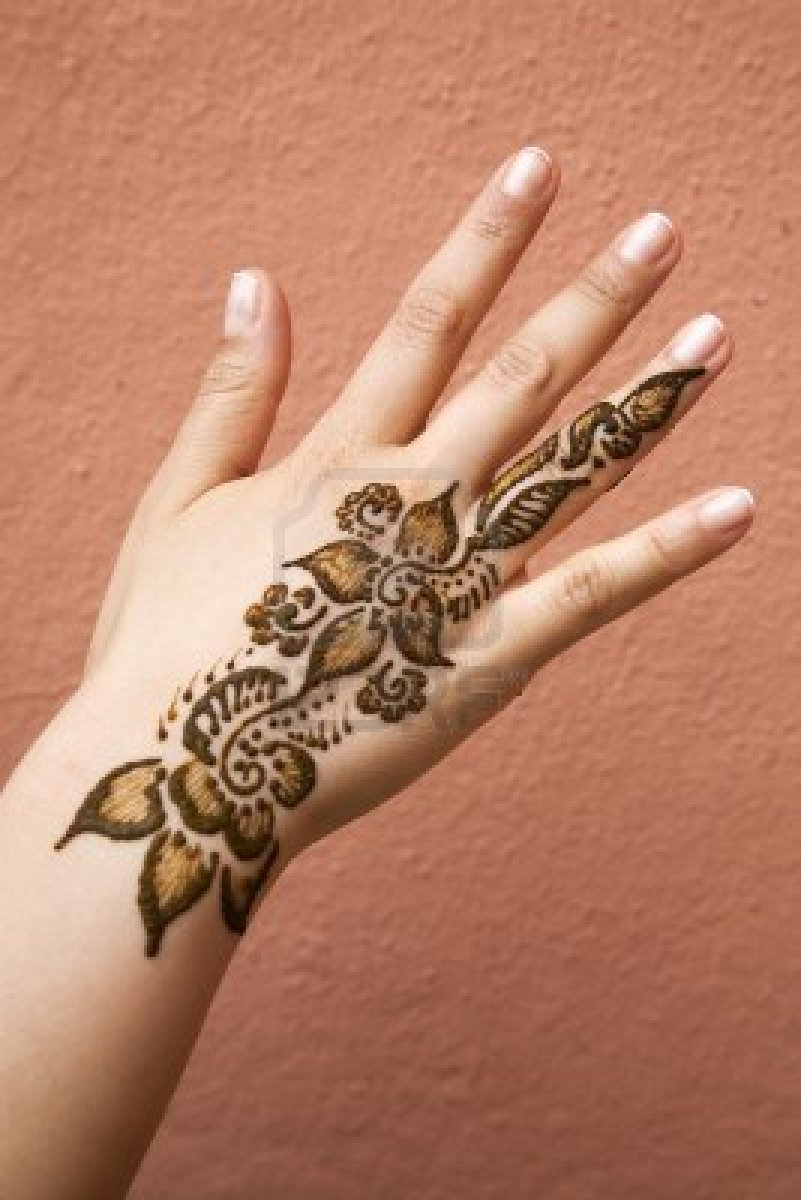 Incredible Henna Hand Tattoo Picture For Girls