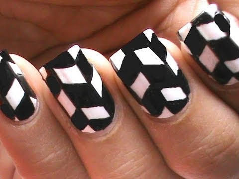 Incredible Pieces Of Black And White Nail Art Design