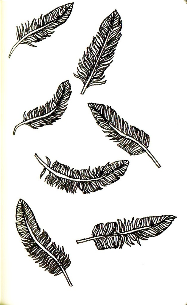 Innovative Few Feather Tattoo Designs For Girls