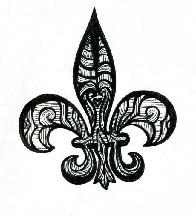 Inspiring Another Fleur De Lis Tattoo Sample For Boys & Girls Fleur De Lis Tattoos