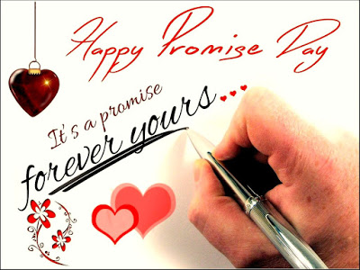 It's A Promise Forever Yours Happy Promise Day Greeting Image