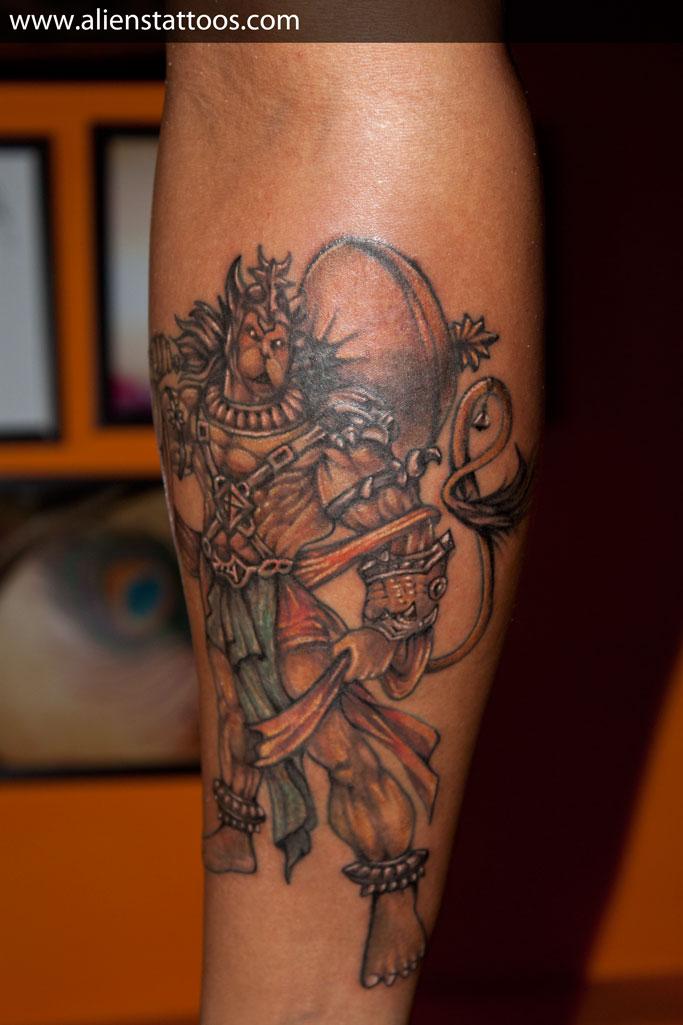 Latest Lord Hanuman Tattoo On Arm For Boys