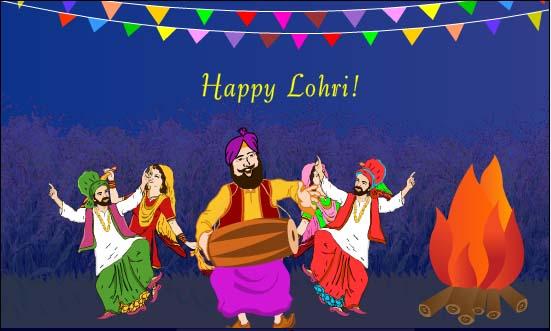 Lohri Lakh Lakh Vadhaiyan Happy Lohri Wishes Image