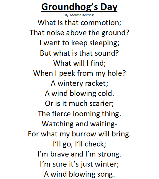 Long Poem On Happy Groundhog Day Wishes Image