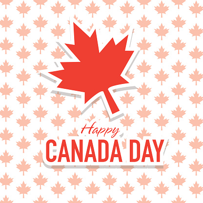 Lovely Greetings Card For Happy Canada Day Image
