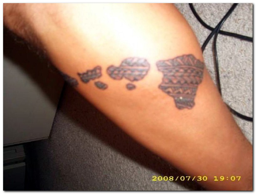 Lovely Hawaiian Islands Tattoo Picture For Boys